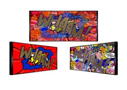 Whaam by Patrick Rubinstein - Kinetic Original on Board sized 50x23 inches. Available from Whitewall Galleries